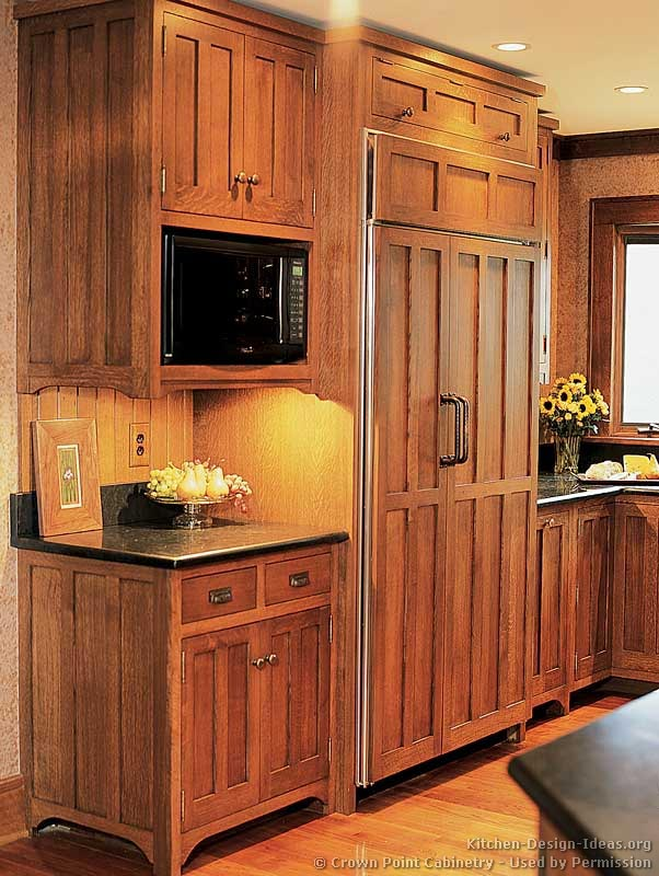 Pictures of kitchens traditional medium wood cabinets for Custom wood kitchen cabinets