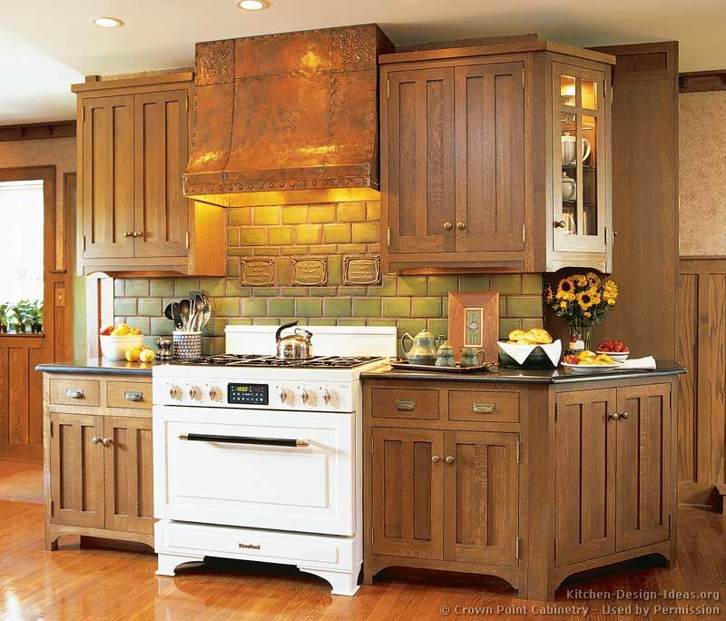 Kitchen Cabinets Mission Style: Craftsman Kitchen Design Ideas And Photo Gallery