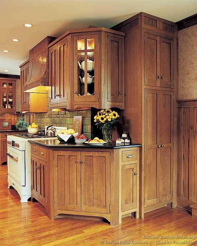 Craftsman kitchen design ideas and photo gallery for Craftsman design ideas