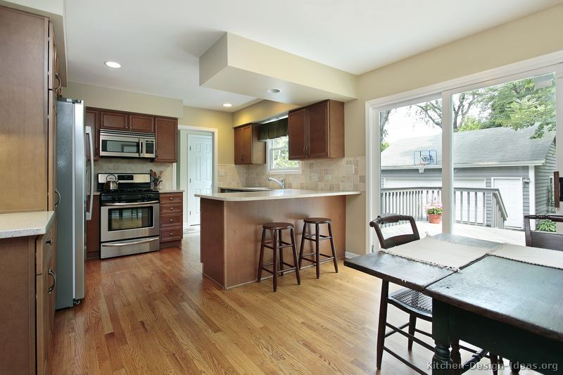 Pictures of Kitchens  Traditional  Medium Wood Cabinets, Brown (Page
