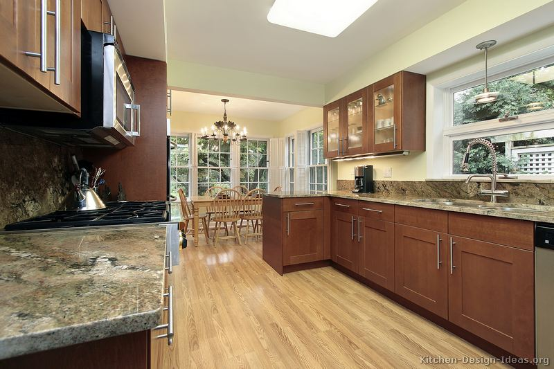 Pictures Of Kitchens Traditional Medium Wood Cabinets Brown Page 3