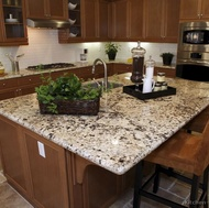 Traditional Medium Wood-Brown Kitchen