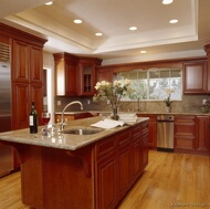 Traditional Medium Wood (Cherry Color) Kitchens