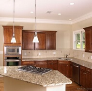 Traditional Medium Wood (Cherry) Kitchen