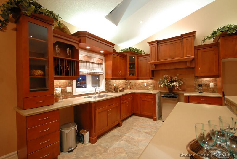 Pictures of kitchens traditional medium wood cherry for Cherrywood kitchen designs