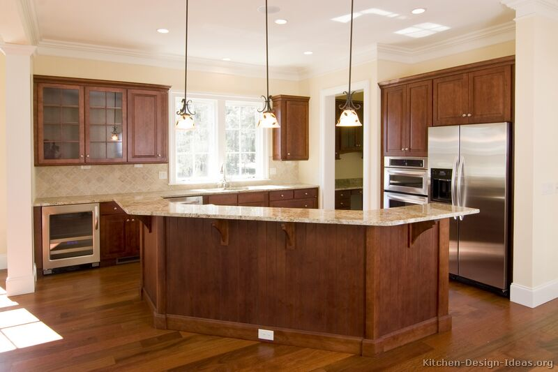 Ideas about cherry wood kitchens on pinterest stainless for Cherry wood kitchen cabinets