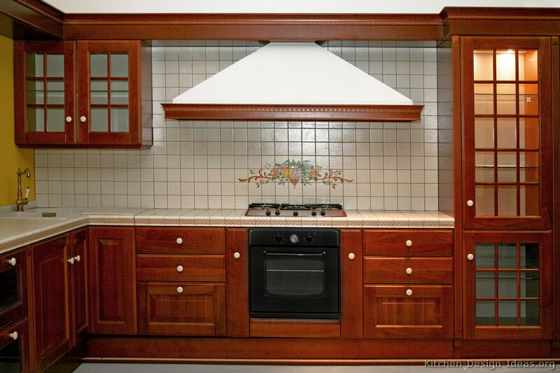 Pictures of kitchens traditional medium wood cherry color kitchen 20 - Cherry wood kitchen ideas ...