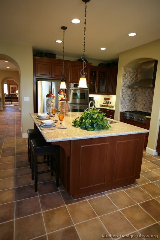 pictures of kitchens traditional medium wood kitchens cherry color page 2. Black Bedroom Furniture Sets. Home Design Ideas