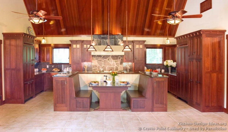 mission style kitchens  designs and photos,Mission Style Cherry Kitchen Cabinets,Kitchen decor