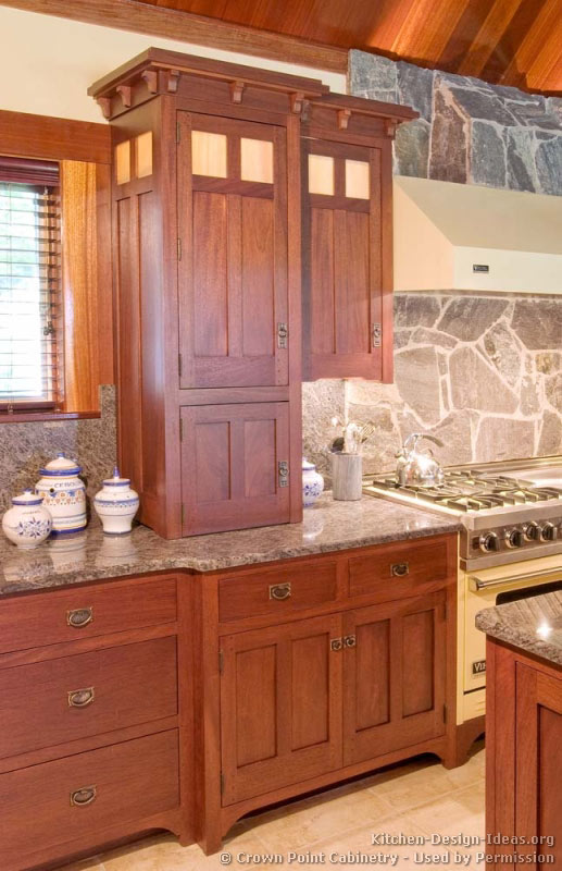 Of Kitchens Traditional Medium Wood Cherry Color Kitchen 77