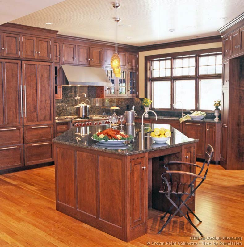 Pictures of kitchens traditional medium wood cherry for Kitchen design victoria