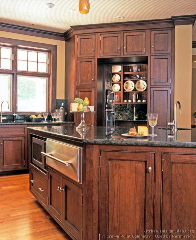 01 traditional medium wood cherry kitchen - Kitchen 79