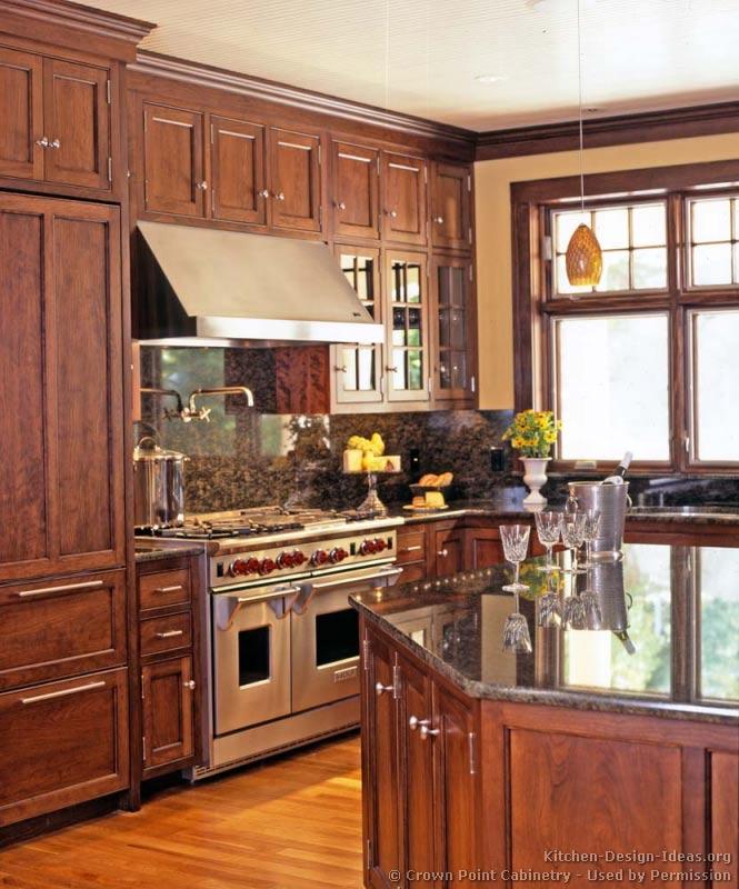 traditional medium wood cherry kitchen - Kitchen 79