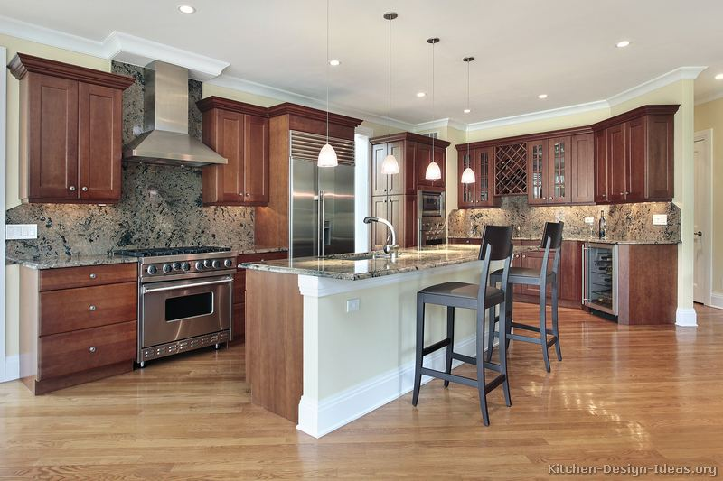 Kitchen Design Ideas Org ~ Pictures of kitchens traditional medium wood