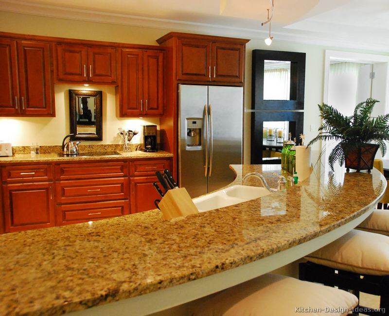 Granite countertop colors brown granite for Kitchen granite countertops colors