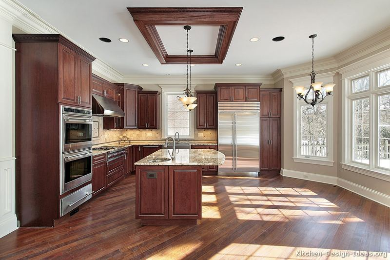 Dark Kitchen Cabinets With Medium Hardwood Floors Quicua