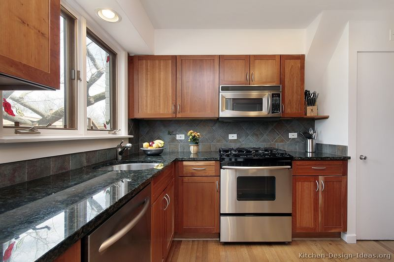 88, Traditional Medium Wood Cherry Kitchen