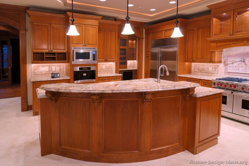 Pictures Of Kitchens Traditional Medium Wood Golden Brown Kitchen 1
