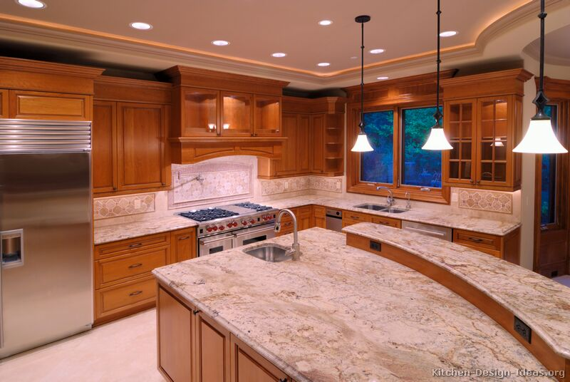 Pictures Of Kitchens Traditional Medium Wood Golden
