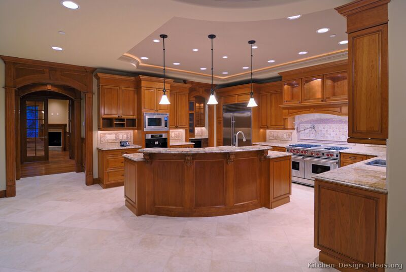 Pictures of kitchens traditional medium wood cabinets for Luxury home kitchen designs