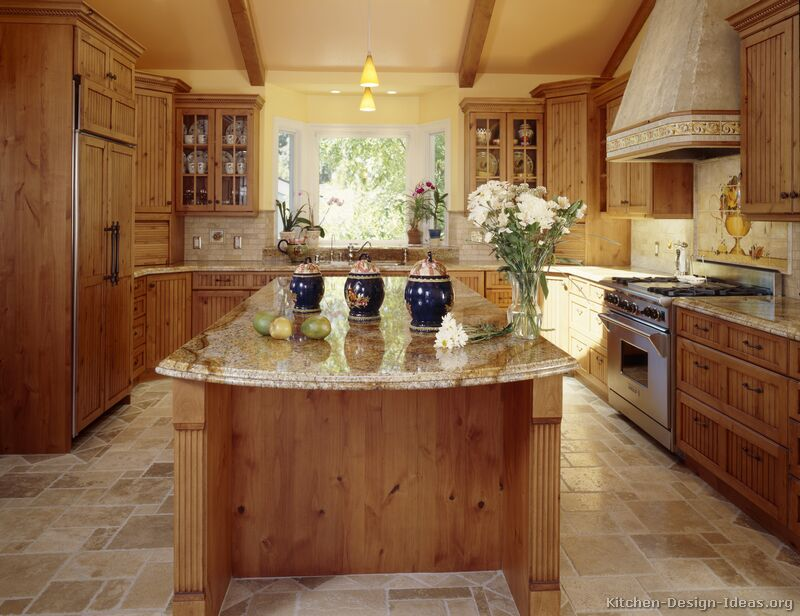 A Beautiful Country Kitchen with Vaulted Ceilings