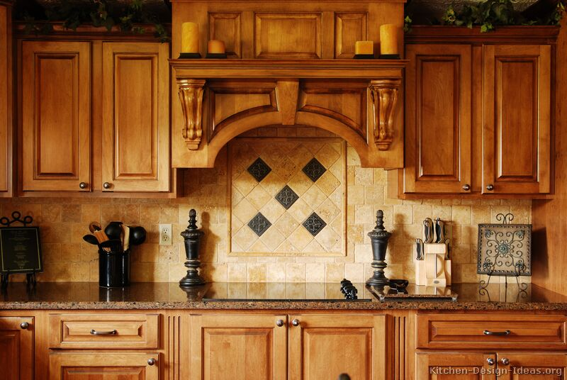 Pictures Of Kitchens Traditional Medium Wood Golden Brown Kitchen 4