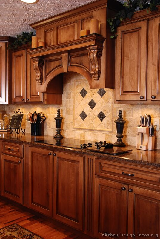 Exceptional 02, Traditional Medium Wood (Golden) Kitchen