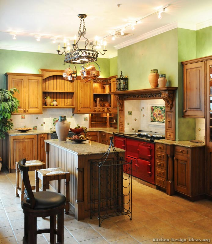 A Traditional Italian Kitchen Design with a Red AGA Stove (3 of 3)