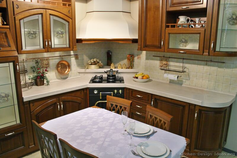 Pictures of Kitchens - Traditional - Medium Wood Cabinets, Golden ...