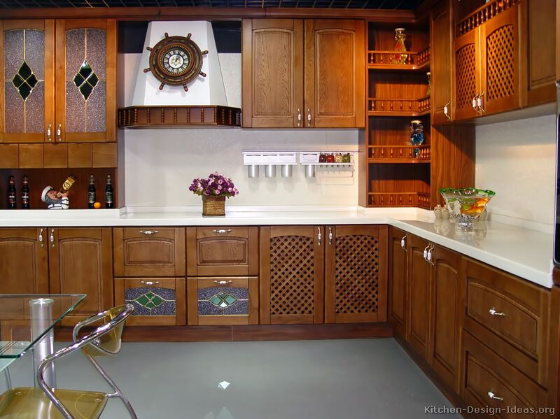 pictures of kitchens traditional medium wood cabinets. Black Bedroom Furniture Sets. Home Design Ideas
