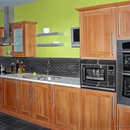 Traditional Medium Wood-Golden Kitchen
