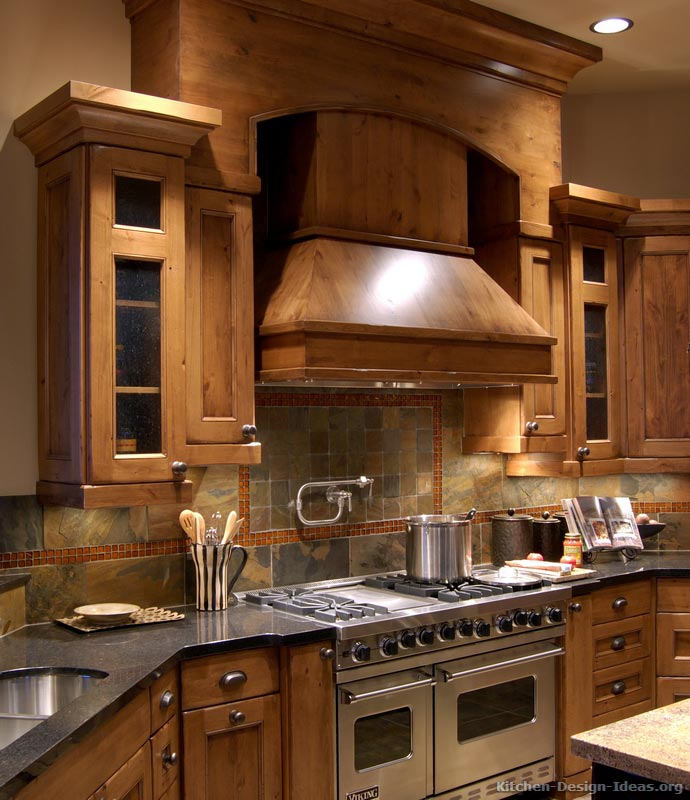 Rustic kitchen designs pictures and inspiration for Kitchen cabinet design ideas photos