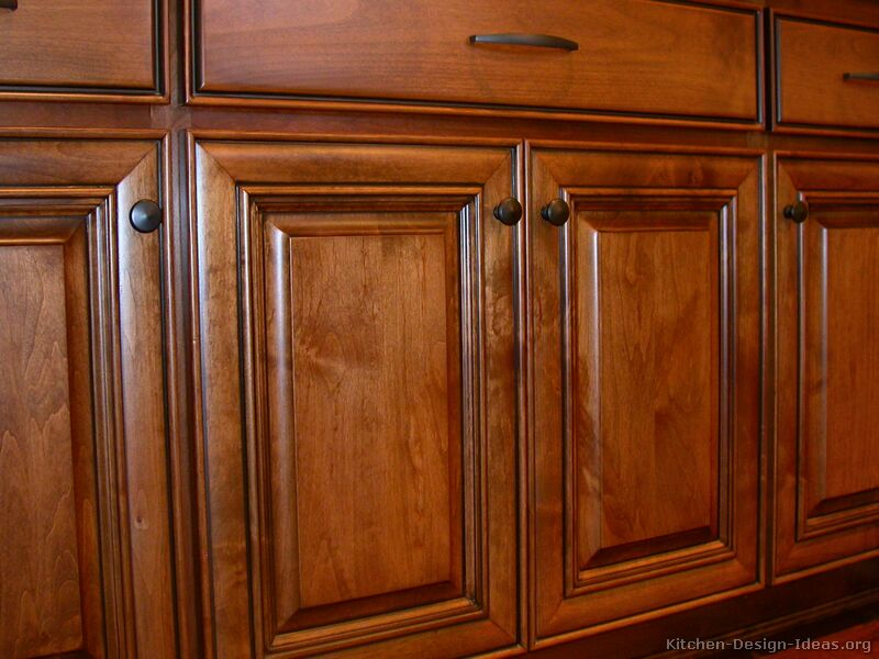 Pictures of kitchens traditional medium wood cabinets for Wood cabinets