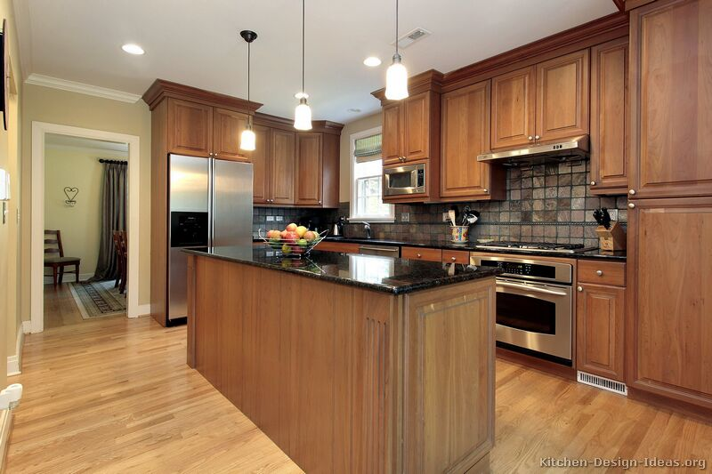 Pictures of kitchens traditional medium wood cabinets golden traditional medium wood golden kitchen workwithnaturefo