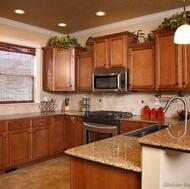 Traditional Medium Wood-Golden Kitchen