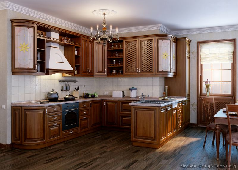 Pictures of kitchens traditional medium wood cabinets for Italian kitchen design