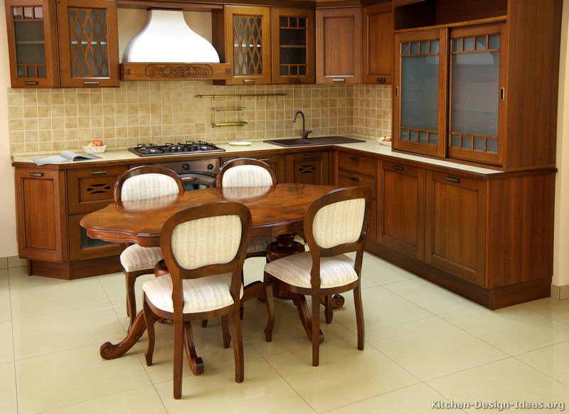 Tips For Kitchen Color Ideas: Medium Wood Cabinets