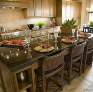 Traditional Medium Wood (Olive Color) Kitchens
