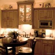 Traditional Medium Wood (Olive) Kitchen