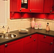 Traditional Red Kitchens