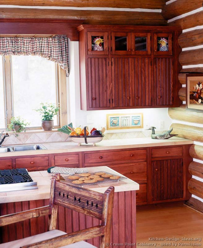 Log home kitchens pictures design ideas - Home kitchen design ideas ...