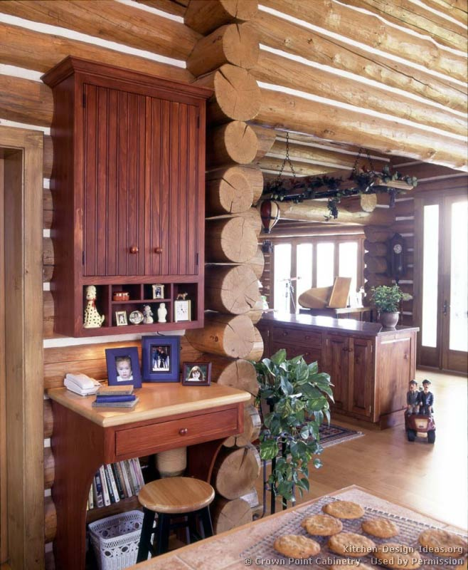 Log Home Kitchen Design Ideas ~ Log home kitchens pictures design ideas