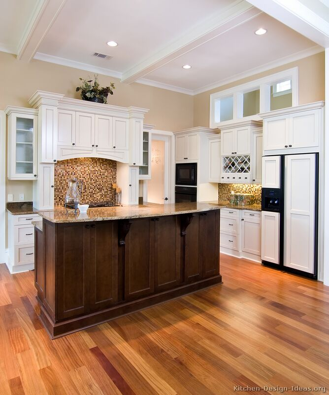 of Kitchens  Traditional  Two Tone Kitchen Cabinets (Kitchen #3