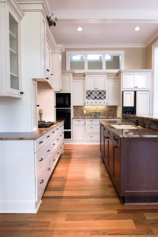 Pictures Of Kitchens Traditional Two Tone Kitchen Cabinets Kitchen 3