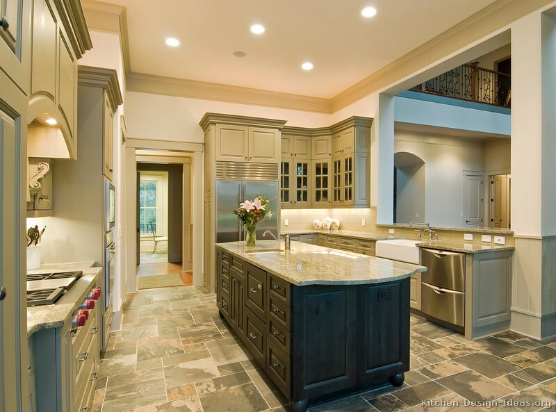 Pictures Of Kitchens Traditional Two Tone Kitchen Cabinets Kitchen 5