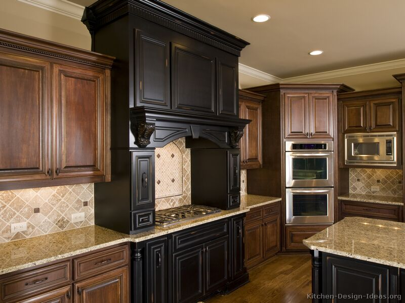 Old world kitchen designs photo gallery Kitchen design mixed cabinets