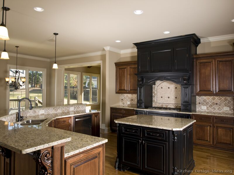 Pictures Of Kitchens Traditional Two Tone Kitchen Cabinets Kitchen 8