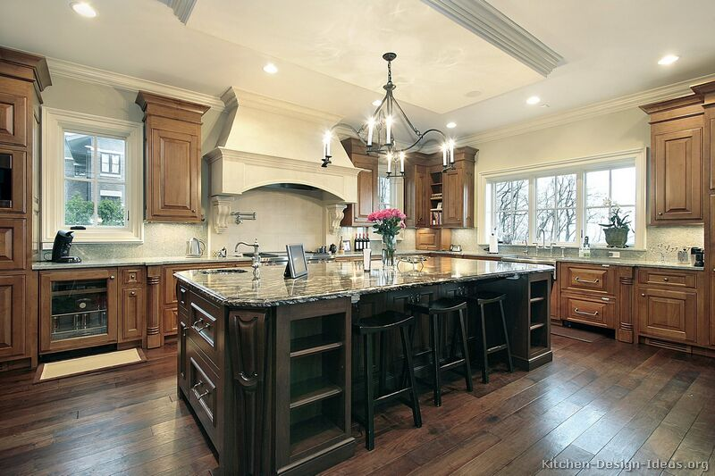 Kitchen Cabinets And Islands pictures of kitchens - traditional - two-tone kitchen cabinets