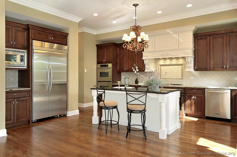 ordinary Kitchen Island Different Color #3: ... Traditional Two-Tone Kitchen
