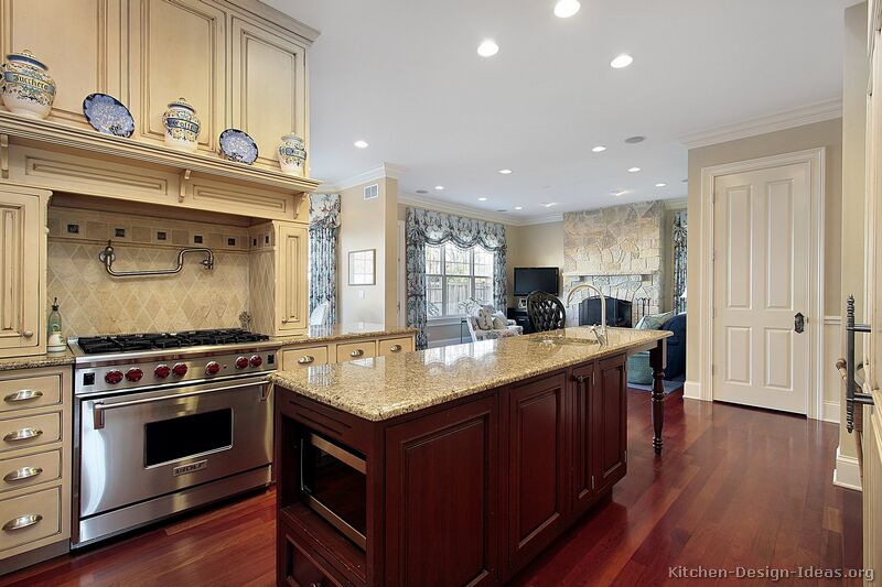 Pictures Of Kitchens Traditional Two Tone Kitchen Cabinets Kitchen 12